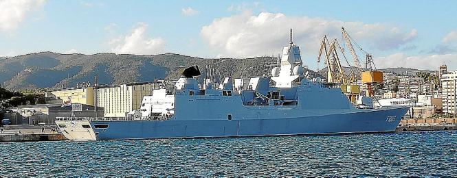 Die holländische Fregatte kam am Donnerstag in Palma an.