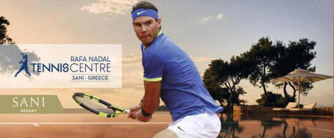 So wird das neue Tennis Centre in Halkidiki beworben.