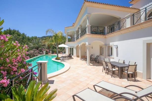 Blick auf eine Mallorca-Villa.
