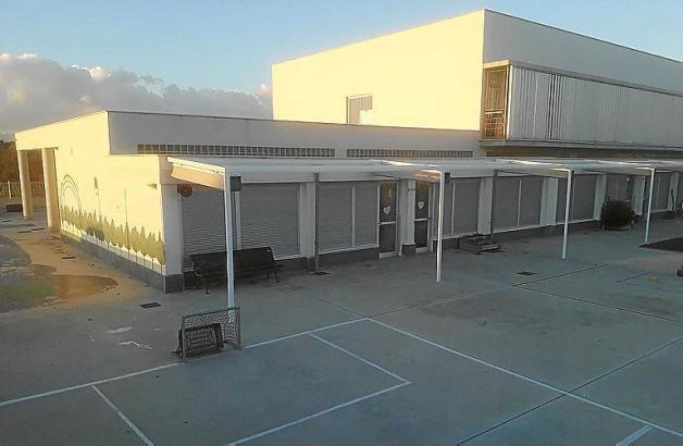 Blick auf die betroffene Schule.