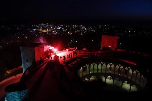 Leuchtfeuer auf der Bellver-Burg.