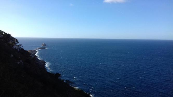 Blick auf die Steilküste der Tramuntana.