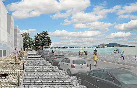 Nach ihrer Umngestaltung soll die Hafenpromenade mehr Platz für Fußgänger bieten.