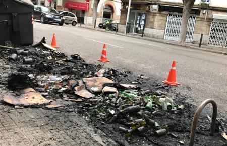 Brandstiftung in Palma de Mallorca.