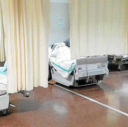 Krankenbetten im Krankenhaus Son Llàtzer.