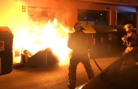 Brandstiftung in Can Pastilla auf Mallorca.