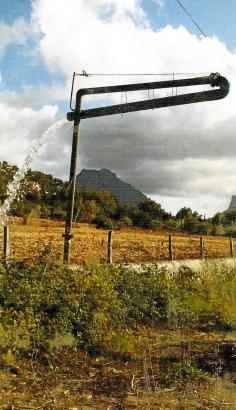 Diese Brunnenvorrichtung bei Pollença kann bis zu 25 Tonnen Wasser pro Stunde fördern.