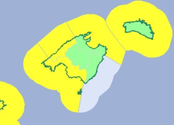 Unwetterwarnung auf Mallorca.