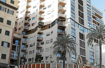 Das Gebäude an Palmas Paseo Maritimo in kirchlicher Hand, in dem sich die Mieten verdoppeln sollen.