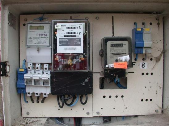 Stromzähler auf Mallorca.