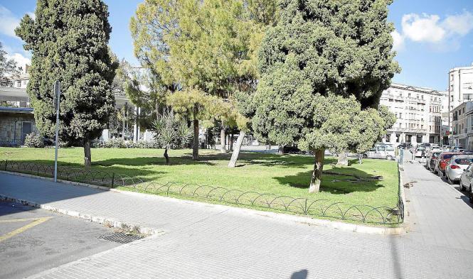 In diesem Bereich der Plaza Progreso soll die Garage gebaut werden.