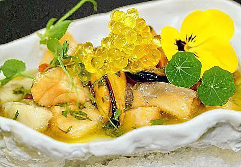 Die Speisen sind beeinflusst von der südamerikanischen Küche.