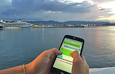 Mit dem Handy sollen Kreuzfahrttouristen künftig ihren Aufenthalt in Palma planen.