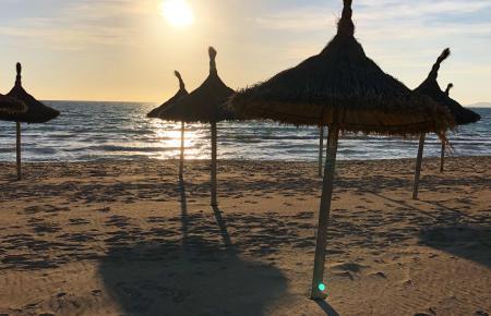 Sonnenschirme und Strandliegen an der Playa de Palma kosten nun 6 Euro.
