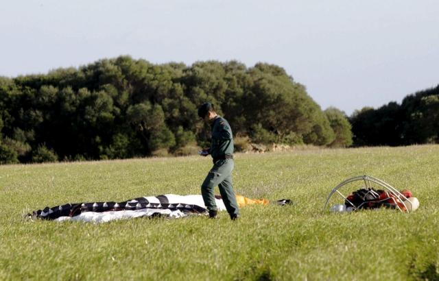 Motorschirmunfall auf Mallorca.