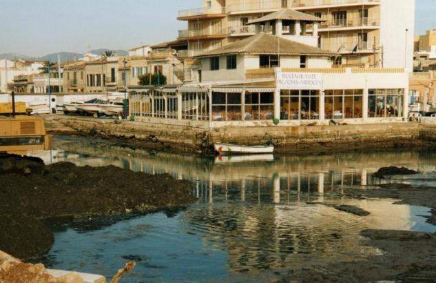 Das angesagte Meeresviertel El Molinar in Palma de Mallorca.