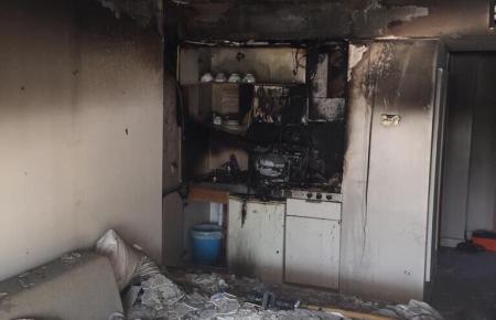 Spuren der Zerstörung nach dem Brand.