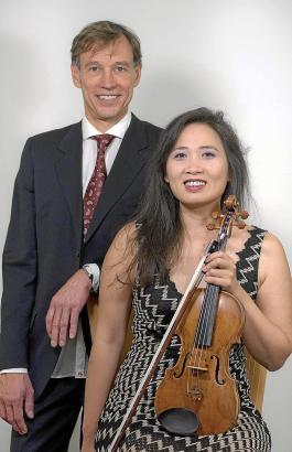 Auch privat ein Duo: der Pianist Malte Darko und die Violinistin Teresa Alda.