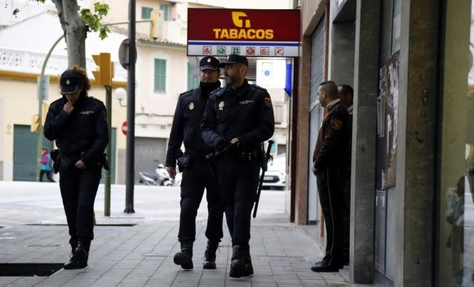 Polizisten im Einsatz in Palma.