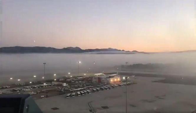 So sah es in den frühen Morgenstunden am Flughafen von Palma aus.