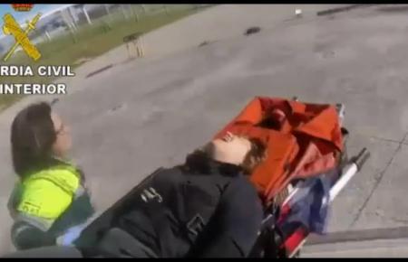 Rettungsaktion im Hubschrauber der Guardia Civil