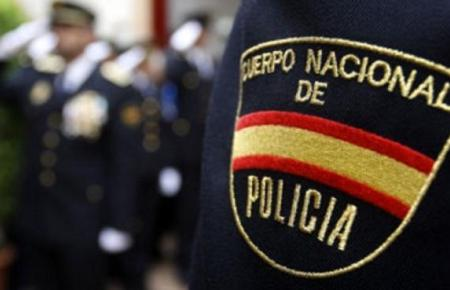 Beamter der spanischen Nationalpolizei im Einsatz.