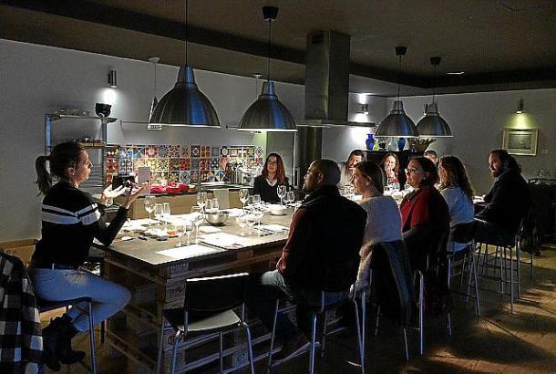 Der erste Wein-Workshop der vierteiligen Reihe, hier mit Esperanza Nadal, war ein voller Erfolg.