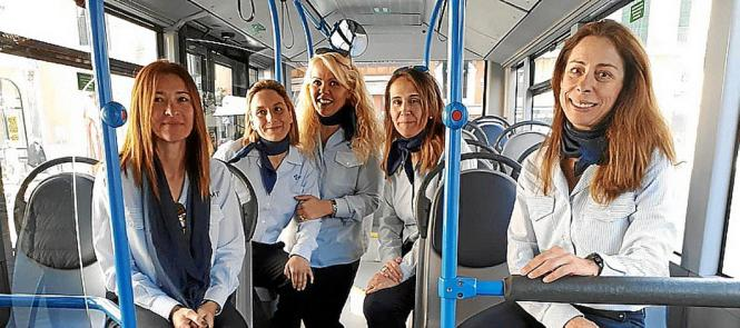 Diese Frauen fahren Palmas Stadtbusse.