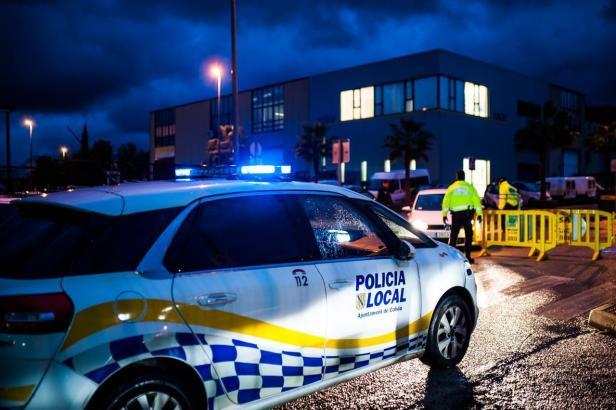 Lokalpolizisten im Einsatz.