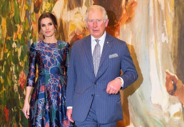 Letizia und Prinz Charles in London.