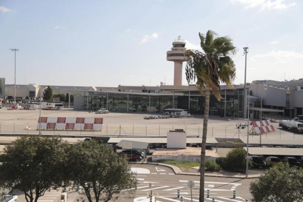 Blick auf den Flughafen.