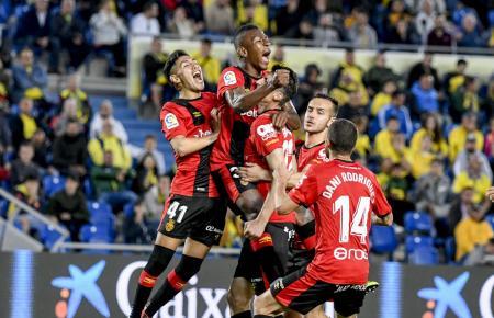 Tor für Real Mallorca! Hier wird Ante Budimirs Treffer zum 1:1 bejubelt.