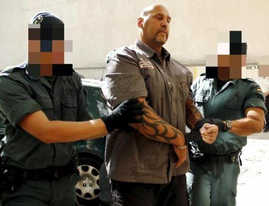 Frank Hanebuth bei seiner Festnahme im Jahr 2013 auf Mallorca.