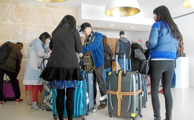 Ein noch recht seltener Anblick: Chinesische Touristen, die die Balearen entdecken wollen.