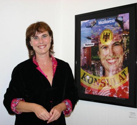 Karin Köllen bei einer Ausstellungseröffnung im Jahr 2006.