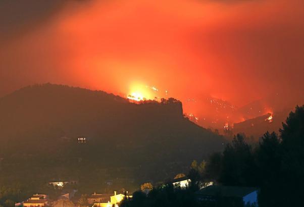 Der verheerende Waldbrand im Jahr 2013 auf Mallorca.