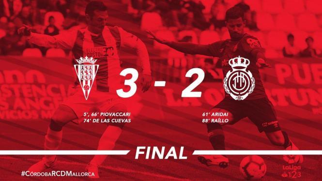 In Córdoba verlor RCD Mallorca mit 2:3.