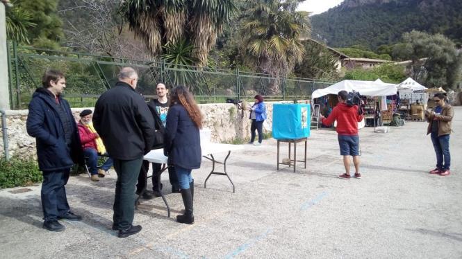 Abstimmung in Valldemossa auf Mallorca.