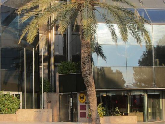 Blick auf das deutsche Konsulat in Palma.