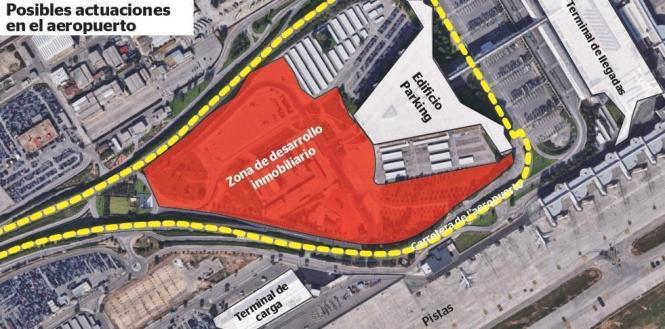In diesem Bereich am Flughafen Son Sant Joan könnten bald neue Immobilien stehen.