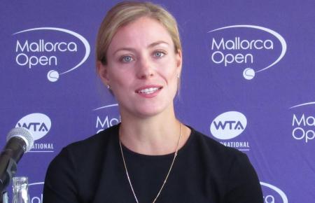 Angelique Kerber während der Mallorca-Open-Pressekonferenz im Hotel Zafiro Palmanova.