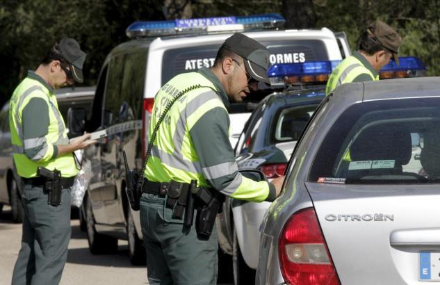 Verkehrskontrolle der Guardia Civil.