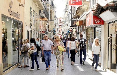 Blick in die Palmesaner Fußgängerzone Sant Miquel.