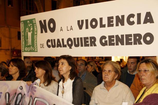 Protest gegen häusliche Gewalt in Spanien.