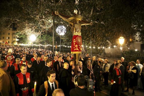 """Die Heiligenfigur """"Crist de la Sang""""."""