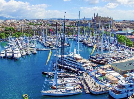 Volles Haus in Palmas Hafen: Zur Boat Show werden in diesem Jahr wieder 600 Schiffe erwartet.