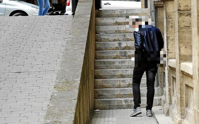 Der Deutsche nach seiner Freilassung in Palma de Mallorca.