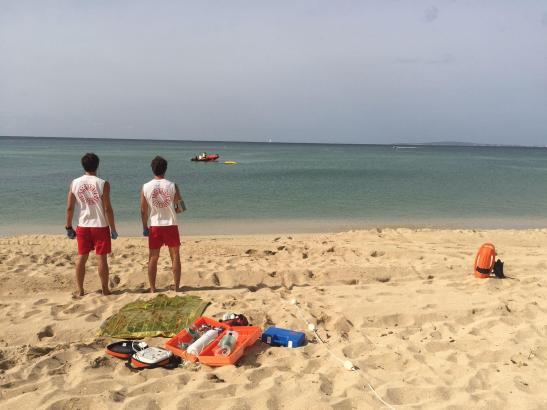 Die Rettungsschwimmer sind von Anfang Mai bis Ende Oktober im Einsatz.