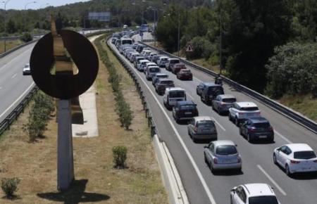 Stau von Palma de Mallorca Richtung Andratx.