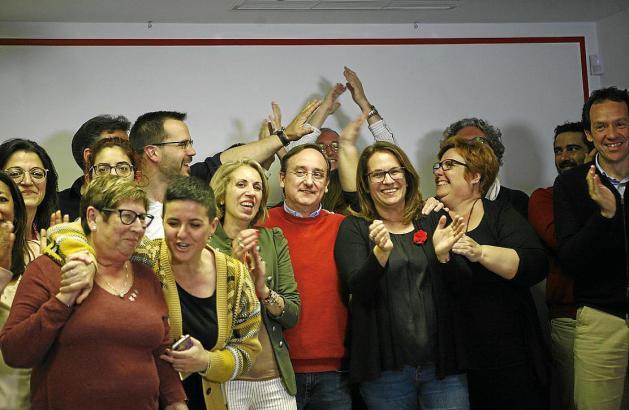 Siegesstimmung bei den Sozialisten in Palma de Mallorca.
